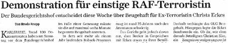 Artikel zur Demo in der Frankfurter Rundschau vom 16.12.2012