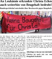 Flugblatt zur Situation von Christa Eckes, Stand 14.01.2012