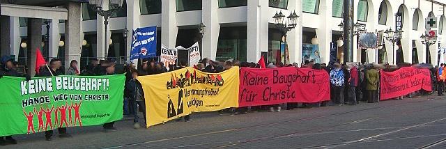 Kundgebung Marktplatz 14.1.2012