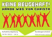 Flyer für die Demo am 14.01. in KA